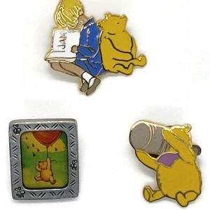 Disney Winnie The Pooh Pins/ Hat pins 3 in total